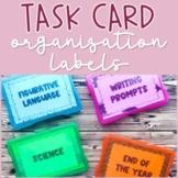 Task Card Storage Organization Labels (Fits into 4x6 Photo