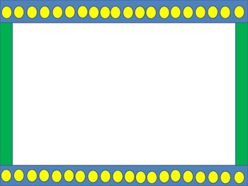 Task Card Paper - Yellow circles on a blue backgound