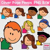 TPT Cover Peeps: Corner Clip Art Kids