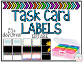 Task Card Photo Box Labels *EDITABLE*
