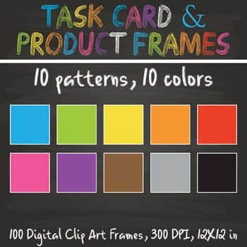 100 Product Frames,Task Card Templates, Flash Card Templates, Binder Covers 2