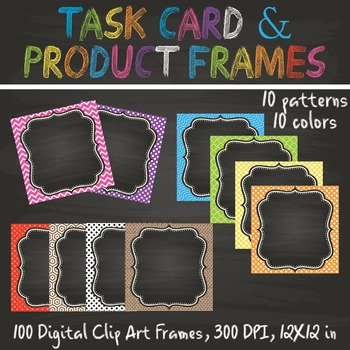 Task Card & Product Frames Set 2