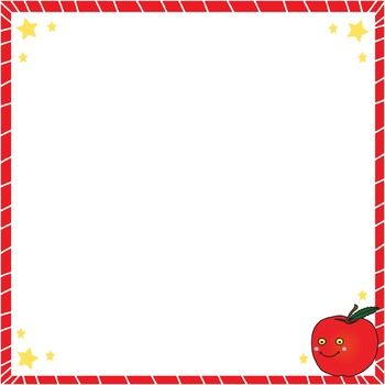 Task Card & Product Frames - Smiley Apple Teacher Pack TheTravelingclassroom