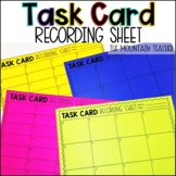 Task Card Recording Sheets