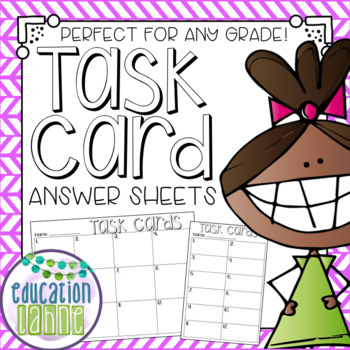 Task Card Response Pages