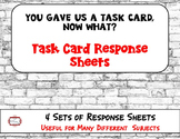 Task Card Response Sheets - Answer Sheets for Task Cards