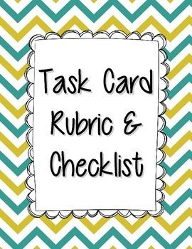 Task Card Rubric & Student Checklist