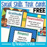 Social Skills Task Cards / Character Education Task Cards FREE