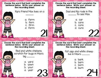 Task Card Sampler Possessive Nouns, Homographs, -ar controlled vowels