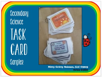 Task Card Sampler {Secondary Science} FREE!