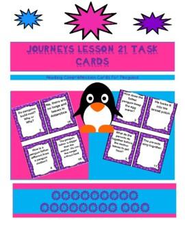 Task Card/Scavenger Hunt Journey's Lesson 21 Penguins