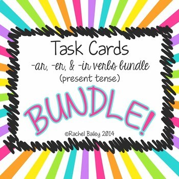 Task Card Set - BUNDLE of -ar, -er and -ir verbs