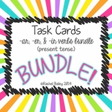 AR, ER, IR Present Tense Verbs in Spanish Task Card Activity Bundle