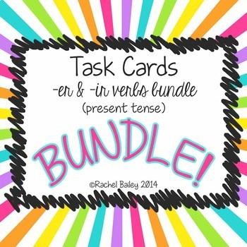 Task Card Set - BUNDLE of -er and -ir verbs