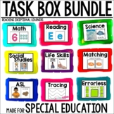 Task Box Activities BUNDLE for Special Education