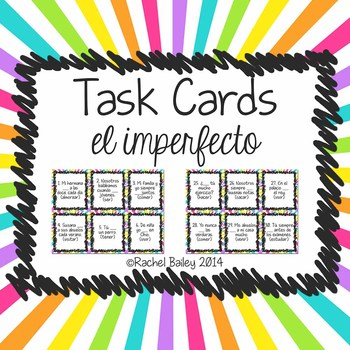 Task Card Set - Imperfect Tense