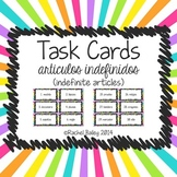 Indefinite Articles | artículos indefinidos | Spanish Task Card Activity