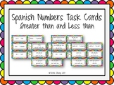 Task Card Set - Numbers in Spanish - Greater and Less Than