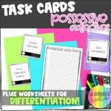 Spanish Possessive Adjectives Task Card Activity and Worksheet