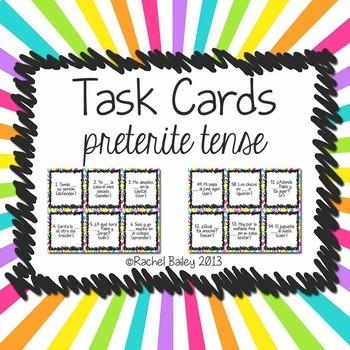 Task Card Set - Preterite Tense
