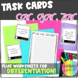 CAR, GAR, ZAR Preterite Verbs Task Card Activity and Worksheet