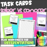 Saber and Conocer Task Card Activity and Worksheet