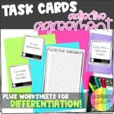 Spanish Adjective Agreement Task Card Activity (plus works