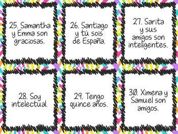 Task Card Set - Spanish Subject Pronouns