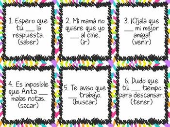 Task Card Set - Subjunctive Mood in Spanish