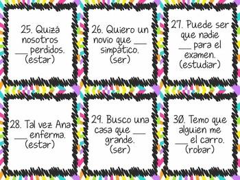 Subjunctive Mood Spanish Task Card Activity