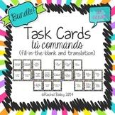Tú Commands Task Card Activity Bundle