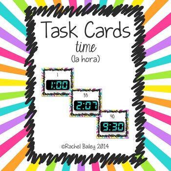Task Card Set - Time (la hora)