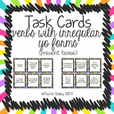 Spanish Irregular Yo Verbs Task Card Activity