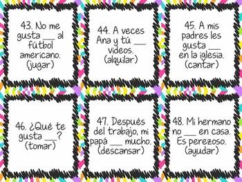 Task Card Set - ar verbs