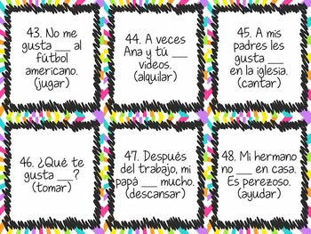 Task Card Set - ar verbs