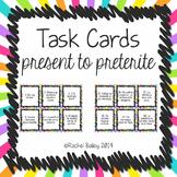 Present Tense to Preterite Tense Spanish Task Card Activity