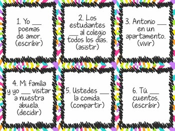 Task Card Set - ir verbs in Spanish