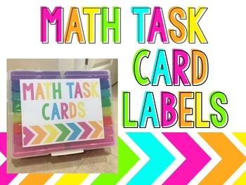 Task Card Storage Labels {Editable}