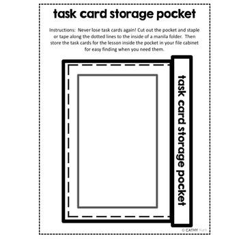 Task Card Storage Pocket, Generic Form, Teacher Organization, Games, Activities