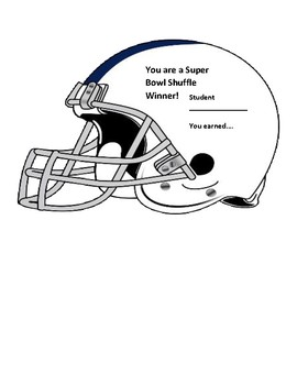 Task Card - Super Bowl Shuffle Activity (You Program Your Own Problems!)