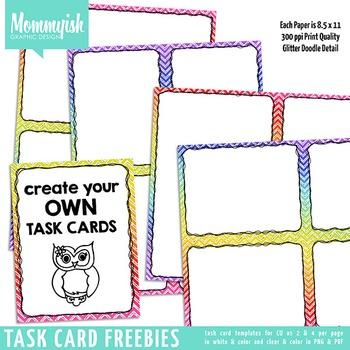 Task Card Template #1 - Freebies by Mommyish For Teachers | TpT