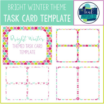 Task Card Template: Bright Winter by The Teal Paperclip | TpT