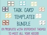 Task Card Template Bundle Cactus Animals Scarecrow Unicorns Food