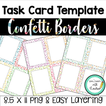 Task Card Template (Confetti)