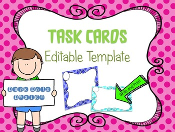 Task Card Template Design {EDITABLE} Ready to use (BUNDLE 1)
