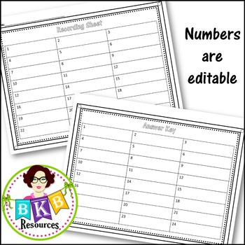 Task Card Template ● Editable