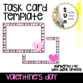 Task Card Template Editable Valentine's Day