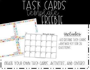 Task Card Template --FREEBIE
