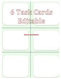 Task Card Template (Light Green 6)