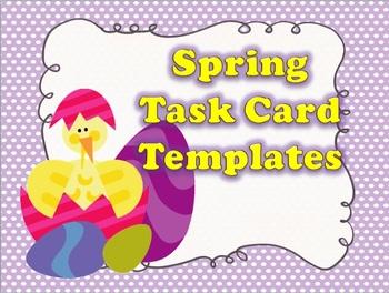 Spring Task Card Template